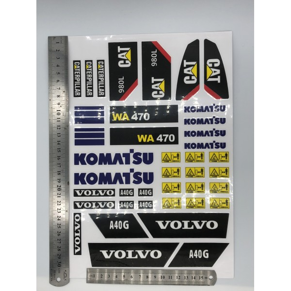 Decal For 1/14 A40G,WA470,CAT 980L