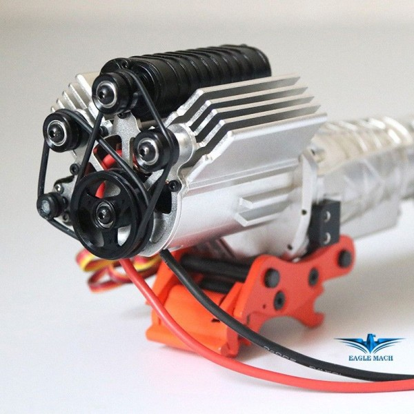 Scale 2-Speed Engine Transmission Gearbox